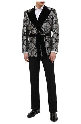 Мужской пиджак DOLCE & GABBANA серебряного цвета, арт. G20S2T/HJMLP | Фото 2