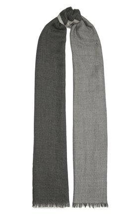Мужской шарф из кашемира и шелка BRUNELLO CUCINELLI серого цвета, арт. MSC606AV | Фото 1