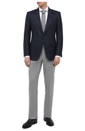 Мужской пиджак из шерсти и шелка TOM FORD синего цвета, арт. 918R37/15MF40 | Фото 2