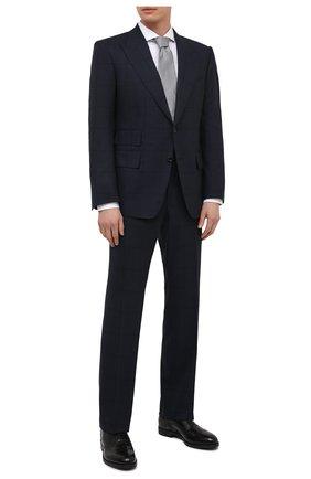 Мужской шерстяной костюм TOM FORD темно-синего цвета, арт. 946R17/21AL43 | Фото 1
