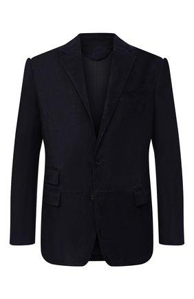 Мужской замшевый пиджак RALPH LAUREN темно-синего цвета, арт. 798804752 | Фото 1