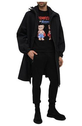 Мужской хлопковый свитшот DOMREBEL черного цвета, арт. STYLE 01/SWEATSHIRT | Фото 2