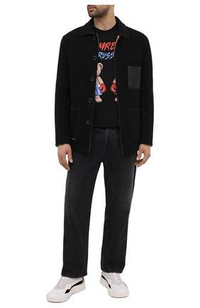 Мужская хлопковая футболка DOMREBEL черного цвета, арт. STYLE 01/T-SHIRT | Фото 2