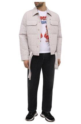 Мужская хлопковая футболка DOMREBEL белого цвета, арт. STYLE 01/T-SHIRT | Фото 2 (Материал внешний: Хлопок; Длина (для топов): Стандартные; Рукава: Короткие; Мужское Кросс-КТ: Футболка-одежда; Принт: С принтом; Стили: Гранж)