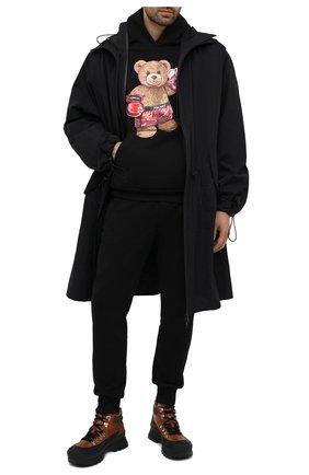 Мужской хлопковое худи DOMREBEL черного цвета, арт. STYLE 02/H00DIE   Фото 2