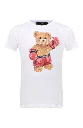 Мужская хлопковая футболка DOMREBEL белого цвета, арт. STYLE 02/T-SHIRT | Фото 1 (Материал внешний: Хлопок; Рукава: Короткие; Длина (для топов): Стандартные; Принт: С принтом; Мужское Кросс-КТ: Футболка-одежда; Стили: Гранж)