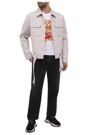 Мужская хлопковая футболка DOMREBEL белого цвета, арт. STYLE 02/T-SHIRT | Фото 2 (Материал внешний: Хлопок; Рукава: Короткие; Длина (для топов): Стандартные; Принт: С принтом; Мужское Кросс-КТ: Футболка-одежда; Стили: Гранж)