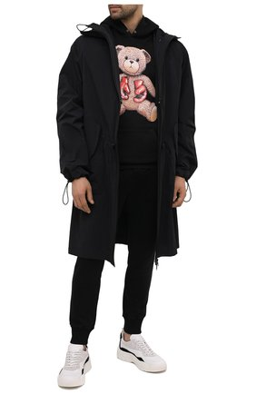 Мужской хлопковое худи DOMREBEL черного цвета, арт. STYLE 08/H00DIE   Фото 2