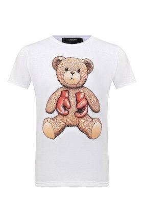 Мужская хлопковая футболка DOMREBEL белого цвета, арт. STYLE 08/T-SHIRT | Фото 1 (Материал внешний: Хлопок; Длина (для топов): Стандартные; Рукава: Короткие; Мужское Кросс-КТ: Футболка-одежда; Принт: С принтом; Стили: Гранж)