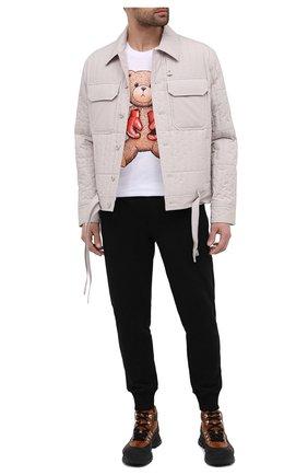 Мужская хлопковая футболка DOMREBEL белого цвета, арт. STYLE 08/T-SHIRT | Фото 2 (Материал внешний: Хлопок; Длина (для топов): Стандартные; Рукава: Короткие; Мужское Кросс-КТ: Футболка-одежда; Принт: С принтом; Стили: Гранж)
