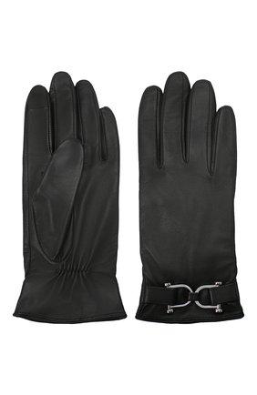 Женские кожаные перчатки BOSS черного цвета, арт. 50437332 | Фото 2