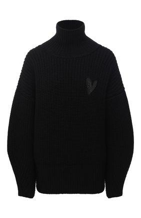 Женский шерстяной свитер BOSS черного цвета, арт. 50442544 | Фото 1