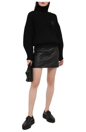 Женский шерстяной свитер BOSS черного цвета, арт. 50442544 | Фото 2