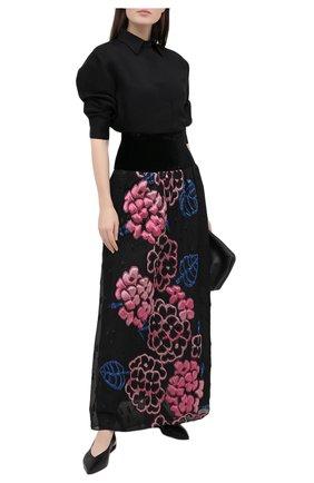 Женская юбка GIORGIO ARMANI темно-серого цвета, арт. 0WHNN04C/T026I | Фото 2