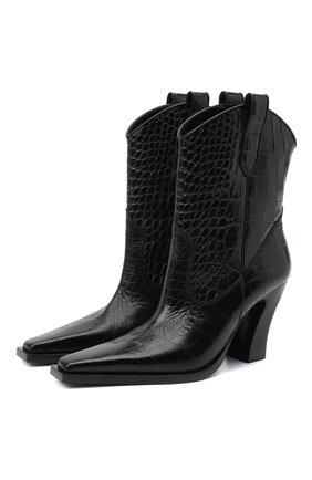 Женские кожаные ботильоны TOM FORD черного цвета, арт. W2802N-LCL125 | Фото 1 (Материал внутренний: Натуральная кожа; Подошва: Плоская; Каблук тип: Фигурный; Каблук высота: Высокий)