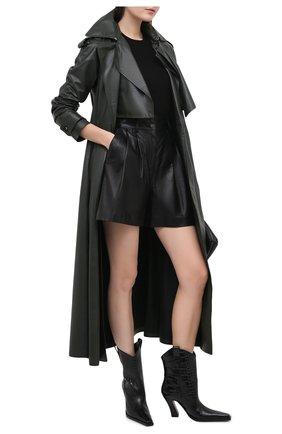 Женские кожаные ботильоны TOM FORD черного цвета, арт. W2802N-LCL125 | Фото 2 (Материал внутренний: Натуральная кожа; Подошва: Плоская; Каблук тип: Фигурный; Каблук высота: Высокий)