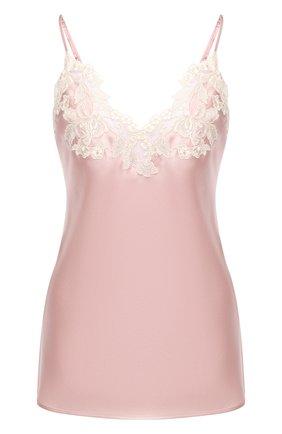 Женская шелковый топ LA PERLA розового цвета, арт. 0019225/W044 | Фото 1