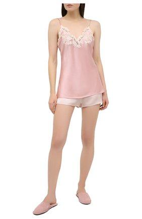 Женская шелковый топ LA PERLA розового цвета, арт. 0019225/W044 | Фото 2