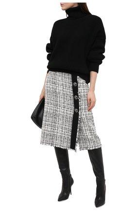 Женская кашемировый свитер DOLCE & GABBANA черного цвета, арт. FX912T/JAW3X | Фото 2