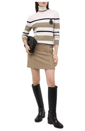Женский шерстяной свитер DOLCE & GABBANA разноцветного цвета, арт. FX197Z/JAVWC | Фото 2