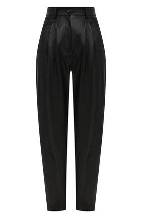 Женские кожаные брюки DOLCE & GABBANA черного цвета, арт. FTBYGL/HULJ7 | Фото 1