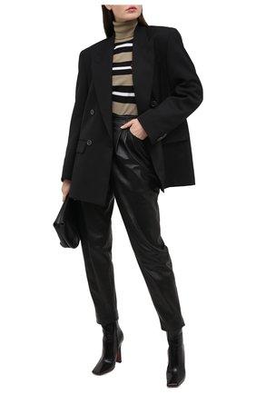 Женские кожаные брюки DOLCE & GABBANA черного цвета, арт. FTBYGL/HULJ7 | Фото 2