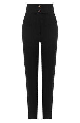 Женские шерстяные брюки DOLCE & GABBANA черного цвета, арт. FTBN7T/FUBE7 | Фото 1