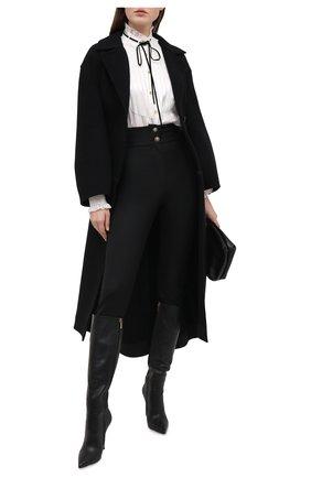 Женские шерстяные брюки DOLCE & GABBANA черного цвета, арт. FTBN7T/FUBE7 | Фото 2