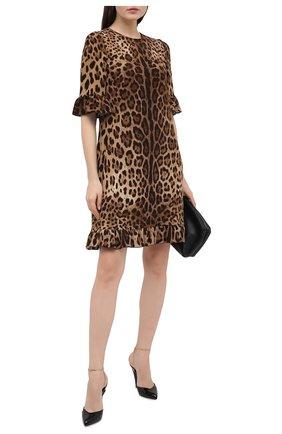 Женское платье из вискозы DOLCE & GABBANA леопардового цвета, арт. F6I6XT/FSRKI | Фото 2