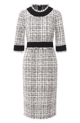 Женское платье DOLCE & GABBANA черно-белого цвета, арт. F6J0KT/FMMFT | Фото 1