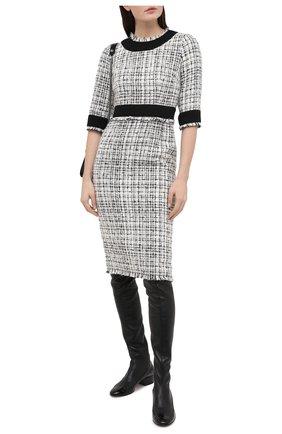 Женское платье DOLCE & GABBANA черно-белого цвета, арт. F6J0KT/FMMFT | Фото 2