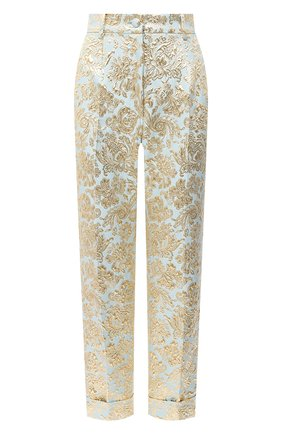 Женские брюки DOLCE & GABBANA голубого цвета, арт. FTBVMT/HJMLB | Фото 1