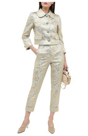 Женские брюки DOLCE & GABBANA голубого цвета, арт. FTBVMT/HJMLB | Фото 2