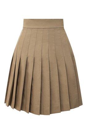 Женская хлопковая юбка DOLCE & GABBANA бежевого цвета, арт. F4BWVT/FUFGI | Фото 1