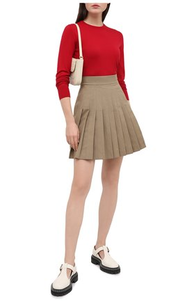 Женская хлопковая юбка DOLCE & GABBANA бежевого цвета, арт. F4BWVT/FUFGI | Фото 2