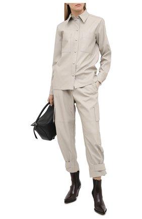 Женские брюки из вискозы STELLA MCCARTNEY светло-серого цвета, арт. 601969/SKB20 | Фото 2