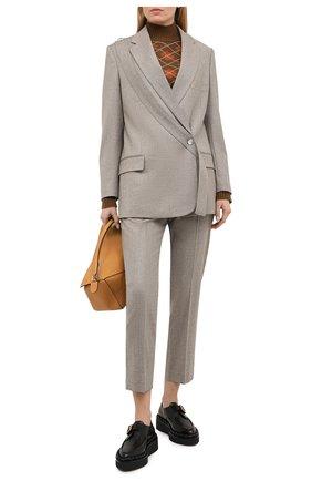 Женские шерстяные брюки STELLA MCCARTNEY серого цвета, арт. 601806/SNB53 | Фото 2