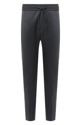 Мужской шерстяные брюки HUGO серого цвета, арт. 50444820 | Фото 1
