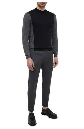 Мужской шерстяные брюки HUGO серого цвета, арт. 50444820 | Фото 2