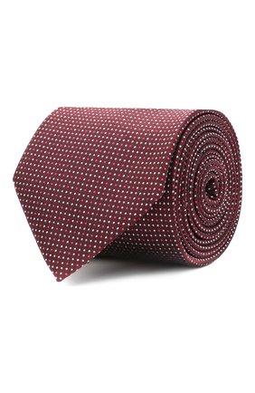 Мужской шелковый галстук BOSS бордового цвета, арт. 50447032 | Фото 1