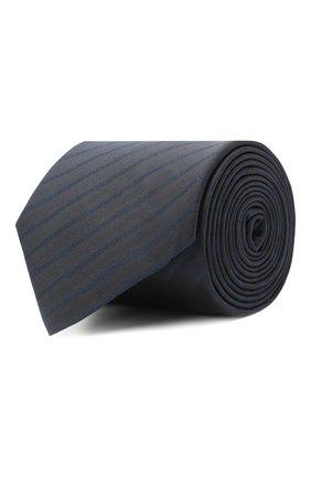 Мужской шелковый галстук BOSS темно-синего цвета, арт. 50447044 | Фото 1