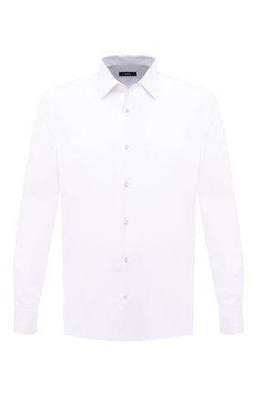 Мужская хлопковая сорочка BOSS белого цвета, арт. 50445630 | Фото 1