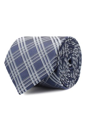 Мужской шелковый галстук BOSS синего цвета, арт. 50447028 | Фото 1