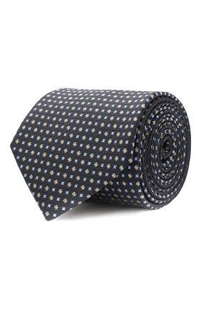 Мужской шелковый галстук BOSS синего цвета, арт. 50447032 | Фото 1