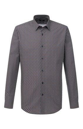Мужская хлопковая рубашка BOSS коричневого цвета, арт. 50445325 | Фото 1