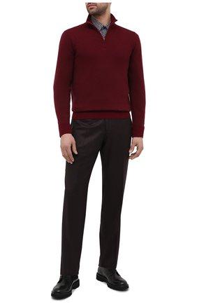 Мужская хлопковая рубашка BOSS коричневого цвета, арт. 50445325 | Фото 2