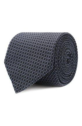 Мужской шелковый галстук BOSS синего цвета, арт. 50447063 | Фото 1