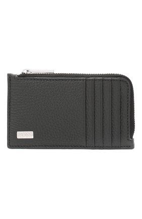 Мужской кожаный футляр для кредитных карт BOSS черного цвета, арт. 50446653 | Фото 1