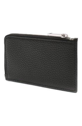Мужской кожаный футляр для кредитных карт BOSS черного цвета, арт. 50446653 | Фото 2