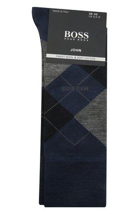 Мужские носки BOSS темно-синего цвета, арт. 50392456   Фото 1